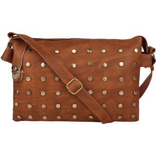 Tarshi Pu Brown Sling Bag For Women