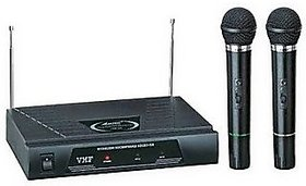Professional Vhf Series 2 in 1 Dual Wireless / Cordless Microphone