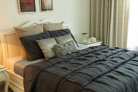 Ruffled-up Blue Bed linen King Size