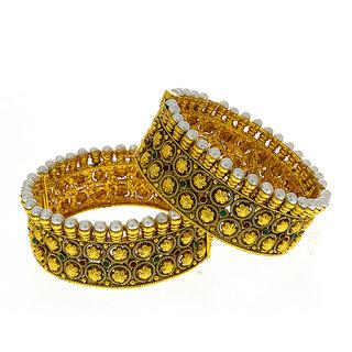 Anuradha Art Golden Finish Very Fancy Style Eye-Pleasing Classy Designer Traditional Bangles Set For Women/Girls