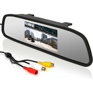 RWT 4.3 Digital Tfd Car Lcd Screen Rearview Mirror Monitor With Rear View Mirror For Toyota Innova Type 2