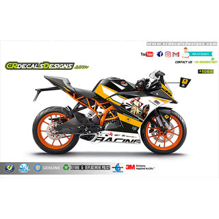 CR Decals KTM Rc Gta-V Gaming Series Edition Sticker Kit (Rc 200/390) for Bike - 10 inches(25.4 cm)