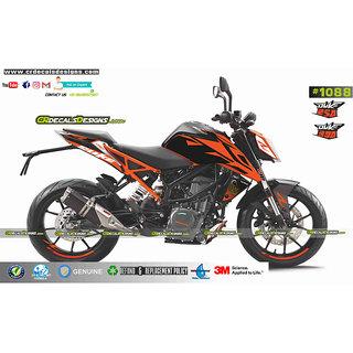 Ktm Duke 250390 Superduke Orange Edition Sticker Kit Duke 250390