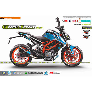 CR Decals Ktm Duke 250/390 VR46 SHARK INSPIRED Edition Sticker Kit (DUKE- 250/390)
