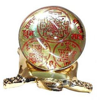 setnacreations  100 Brass Crystal Made Tortoise Shree Sampoorna Yantra For Wealth Prosperity