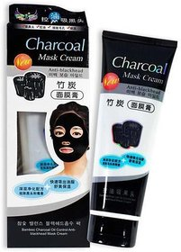 Bamboo Charcoal Bamboo Charcoal Oil Control Anti-Acne Deep Cleansing Blackhead Remover, Peel Off Mask (130 g)