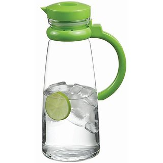 Pasabahce Basic jug with green handle -  Set of 1 - 1300 ml