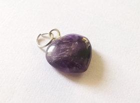 ReBuy Heart Pendant Purple Amethyst Gemstone Pendant