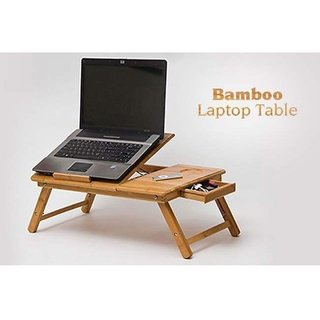 Multipurpose Laptop Table -- For Study / Eating / Craft-Work - Wooden Foldable With Proper Ventilation.