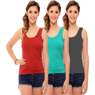 Hothy Women's Multicolor Camisole Bra (Pack Of 3)