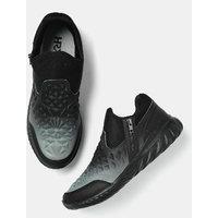 HRX By Hrithik Roshan Men Textured Slip-On Sneakers-GLD