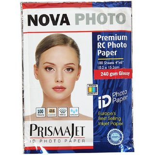 premium rc photo paper glossy 240 gsm (100 sheet )
