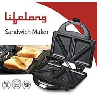 Lifelong LLSM114T (750Watt) - 4 Slice sandwich maker (Black)