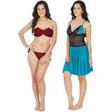 22cb6c4b52 Buy Fasense Women Cotton Nightwear Sleepwear Long Nighty (DP189 B ...