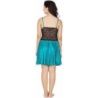 Klamotten Multicolor Satin Solid Night Gowns & Nighty