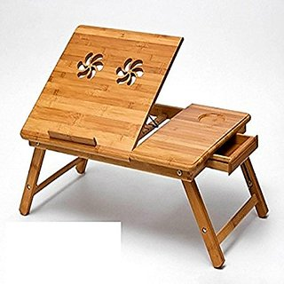 Portable Foldable Wooden Laptop Notebook E-table without fan.