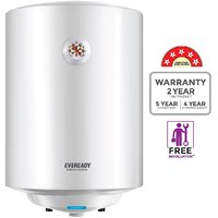 Eveready 25 Ltr Dominica25VM Storage Geysers White