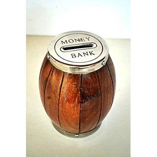 Wooden Dholak Money Bank