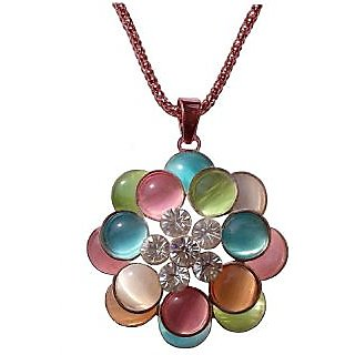Fancy Multicolour Pendant Necklace - 676