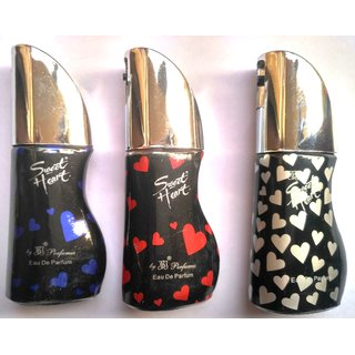 Sweet Heart Perfumes(Set of 3,Red,Black and Blue)