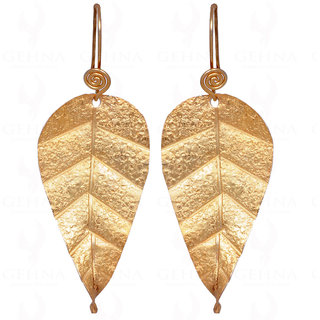 925 Sterling Silver Leaf Shape Carved Earrings
