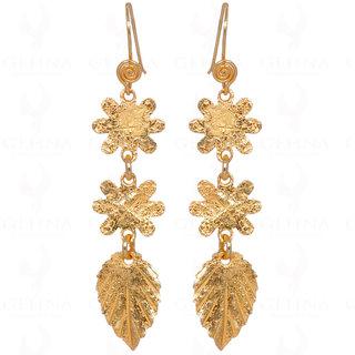 925 Sterling Silver Snowflake & Basil Leaf Shape Earrings