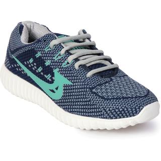 Bostan Blues & Grey Sports Shoes For Men