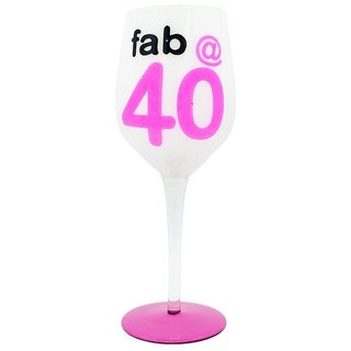 The Crazy Me Fab at 40 Wine Glass