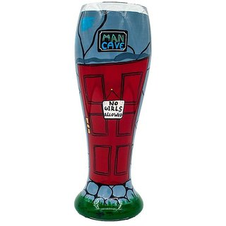 The Crazy Me Man Cave No Girls Allowed Beer Glass