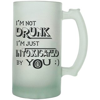 The Crazy Me Im Not Drunk  IM Just Intoxicated Beer Mug