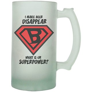 The Crazy Me Superpower Frosted Beer Mug