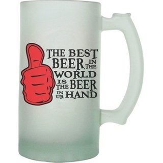 The Crazy Me Best Beer Frosted Beer Mug