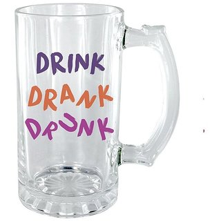 The Crazy Me Drink Drank Clear Beer Mug