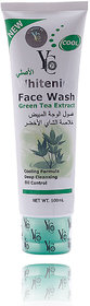 New YC Whitening Face Wash Green Tea Extract 100ml Deep Cleansing Oil Control