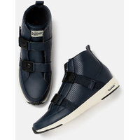 Roadster Men Mid-Top Sneakers With Click Clasps-K65