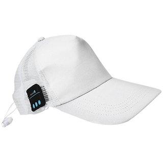 Jaiden Wireless Bluetooth Baseball White Cap Sport Hat  Wearable Smart Devices