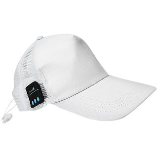 Rooq Bluetooth Baseball White Cap SportHat HandsFree Wearable Smart Devices
