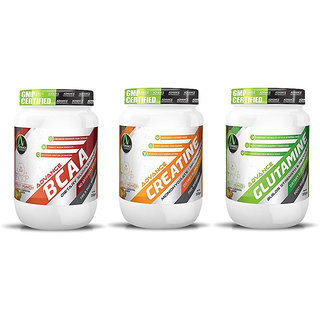 Advance Nutratech Combo of Advance BCAA 200gm Flav + Creatine flavored 300grm + Glutamine 300gm Flavored.