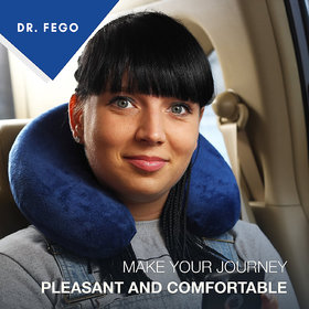 Everlasting Comfort 100 Pure Memory Foam Neck Pillow Airplane Travel, Home, Neck Pain, and Many More
