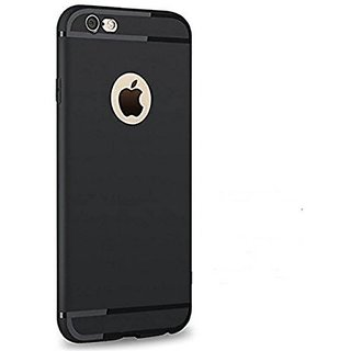 MOBI CRAZE IPhone 6 Plus (BLACK) NEW CANDY Anti Skid Color Ultra Thin Soft TPU Back Case Cover For IPhone 6 Plus With Shining Line
