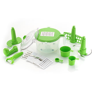 DarkPyros 14 -Piece Kitchen box- Dough Maker(Atta Kneader)+6 in 1 Slicer Grater+Vegetable Cutter+Beater(Churner)+Peeler