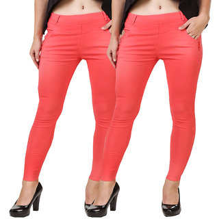 Hardy's Collection Orange Jeggings For Women's