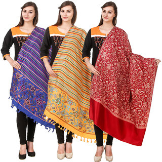 Kritika World Multicolor Wollen shawl for women