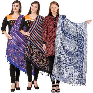 Kritika World Multicolor Wollen shawl for women
