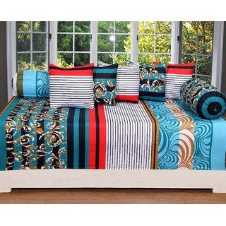 Amayra Cotton Diwan Set Of 8 Pieces, Platinum Series