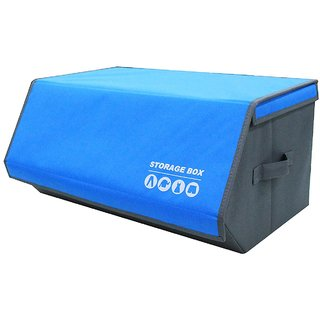 House of Quirk Foldable Living Storage Box Organizer - Blue