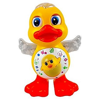 Dancing Toy Duck with Flashing Lights Side to Side Dancing Movements