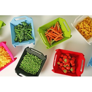 DarkPyros Fruit And Vegetable Storage Basket And Also Use For Washing And Cutting Of Vegetable And Fruits