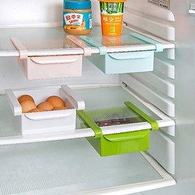 Multi Purpose Plastic Storage Rack Organizer for Refrigerators (Color May Vary - 1 Piece)