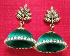 Silk theard earrings